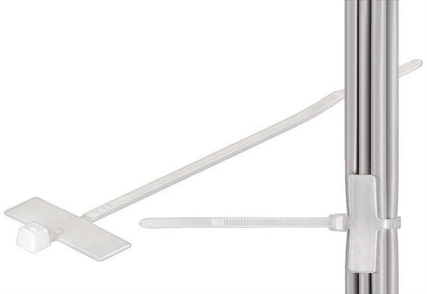 100 Kabelbinder mit Beschriftungsfeld, 100x2,5[mm]